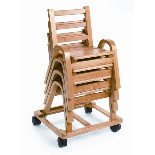 "Angeles 9"" Wood Classroom Stacking Chair"