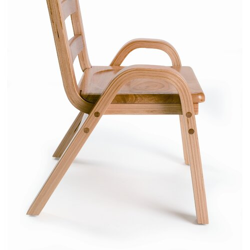 """Angeles 7"""" Wood Classroom Stacking Chair"""