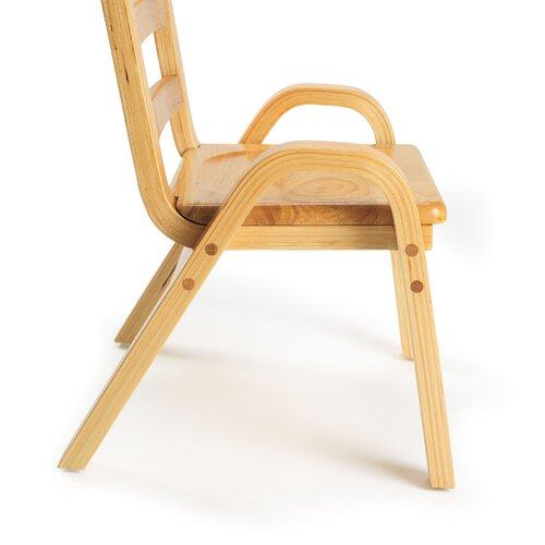 "Angeles 11"" Wood Classroom Stacking Chair"