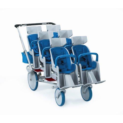 Angeles Runabout 6-Passenger Tandem Stroller