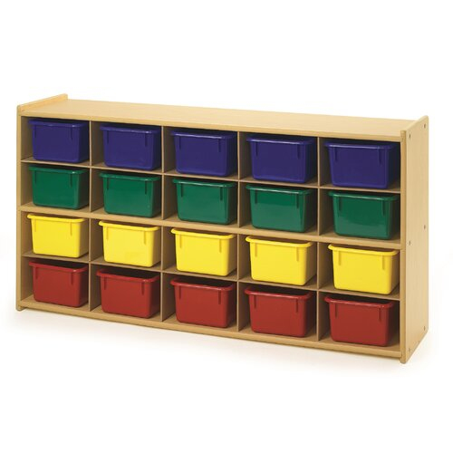 Angeles Value Line 20 Cubbie Storage with Trays