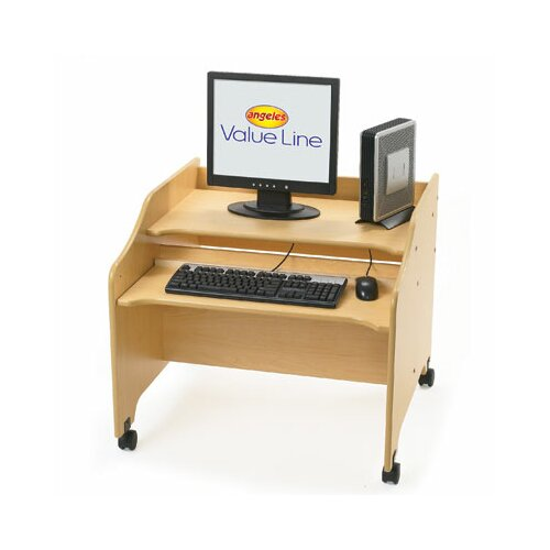 """Angeles Value Line 29.25"""" W x 29"""" D Computer Table"""
