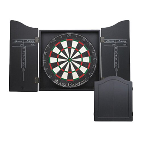 Black Canyon Dart Board Cabinet in Black