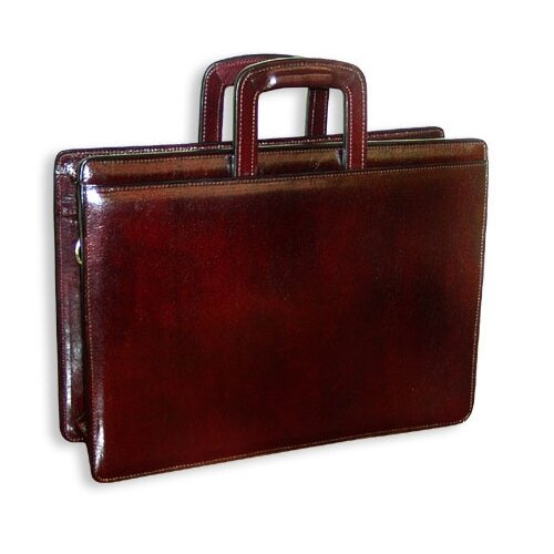 Sienna Double Gusset Leather Briefcase