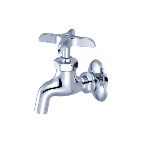 central brass wall mounted sink faucet with single cross
