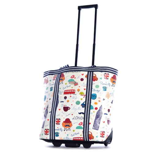 Cosmopolitan London Rolling Shopping Tote