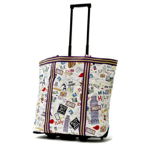 Cosmopolitan City Rolling Shopping Tote