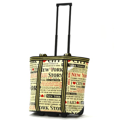 Cosmopolitan New York Rolling Shopping Tote