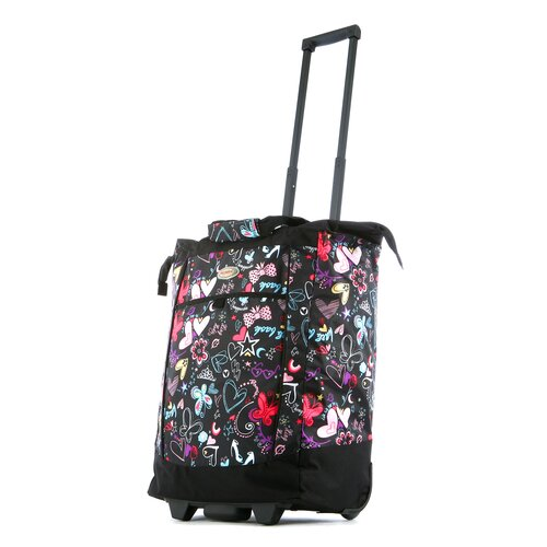 Fashion Butterfly Rolling Shopping Tote