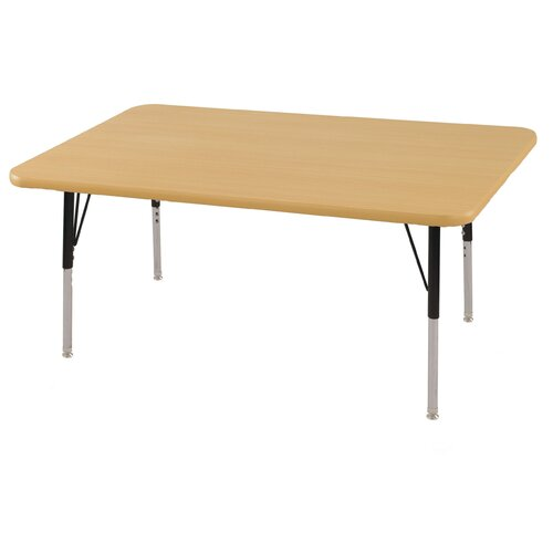 "ECR4kids 30"" x 48"" Rectangular Adjustable Activity Table in Maple"
