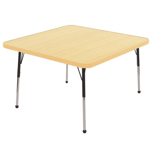 ECR4kids 30 Square Laminate Preschool Table In Maple