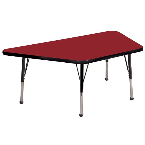"""ECR4kids 30"""" x 60"""" Trapezoid Activity Table in Various Colors"""