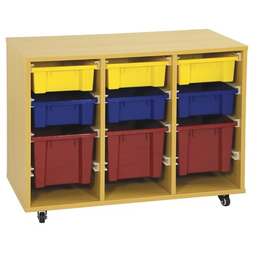 ECR4kids Storage Trolley 9 Compartment Cubby