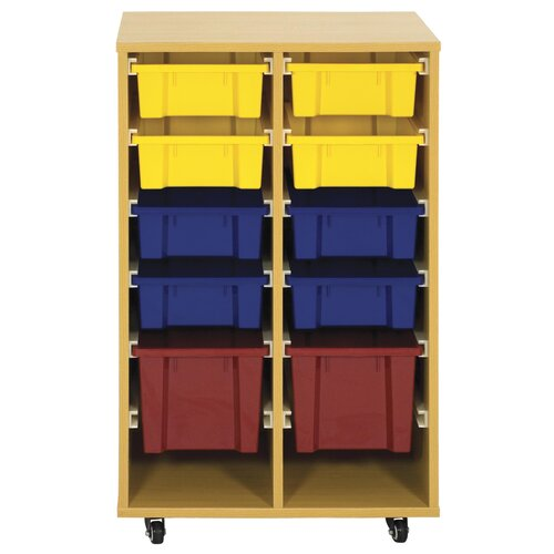 ECR4kids Storage Trolley 10 Compartment Cubby