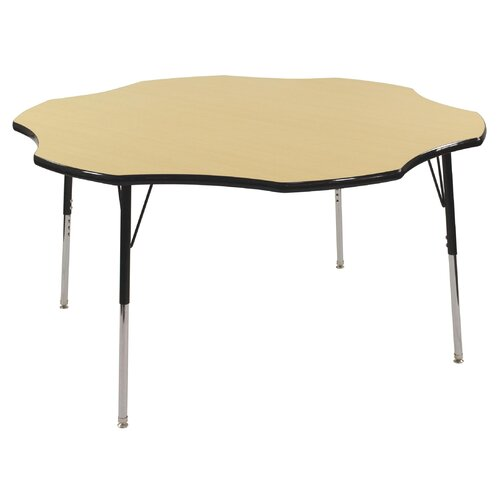 "ECR4kids 60"" Flower Shaped Adjustable Activity Table in Maple"