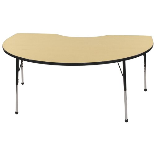 "ECR4kids Activity 72"" x 48"" Kidney Classroom Table"