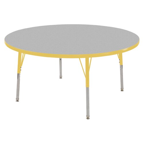 """ECR4kids 48"""" Round Adjustable Activity Table in Gray"""