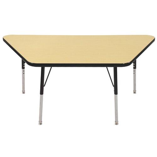 "ECR4kids 60"" x 30"" Trapezoidal Classroom Table"