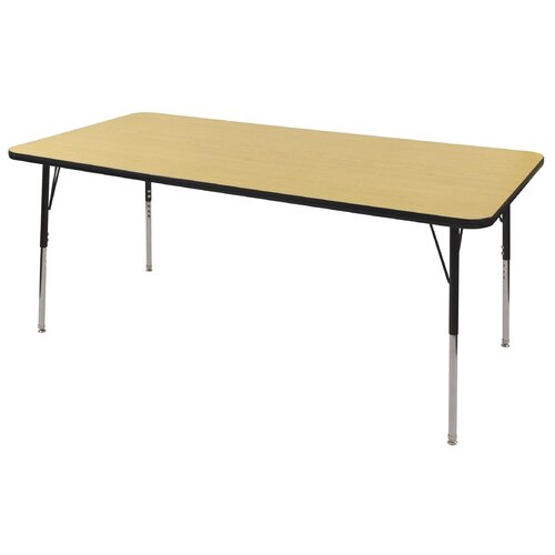 "ECR4kids 36"" x 72"" Rectangular Adjustable Activity Table in Maple"