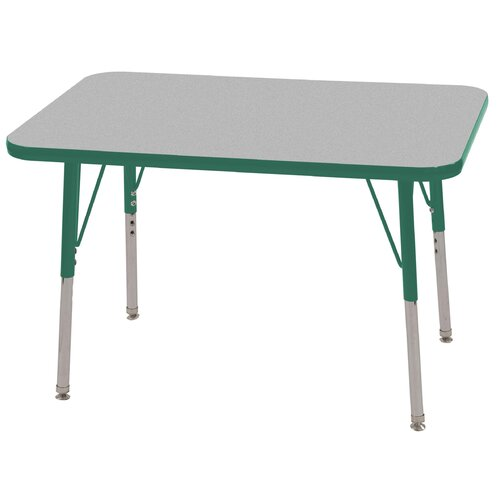 ECR4kids 24x36 Rectangular Adjustable  Activity Table in Gray