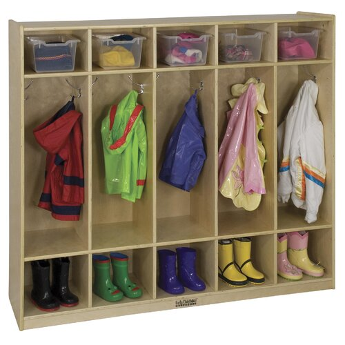 ECR4kids 5-Section Coat Locker