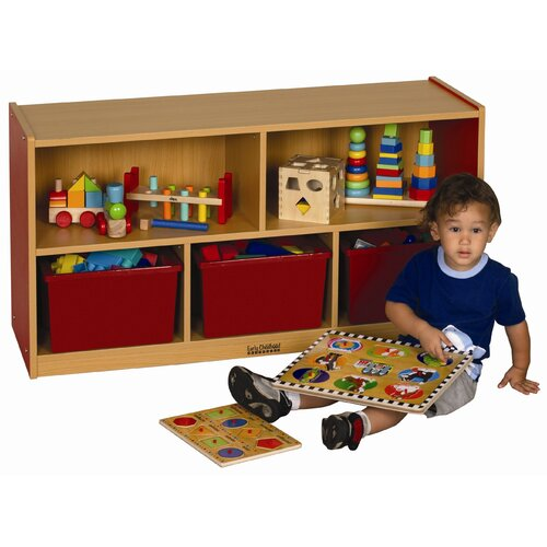 "ECR4kids Colorful Essentials™ 24"" 5 Compartment Storage Cabinets"