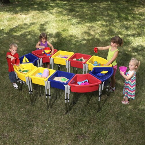 ECR4kids 10 Station Sand & Water Center with Lids