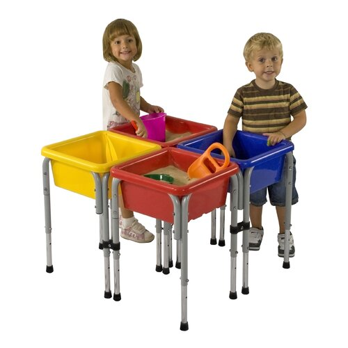 ECR4kids 4 Station Sand & Water Center w/Lids - Square