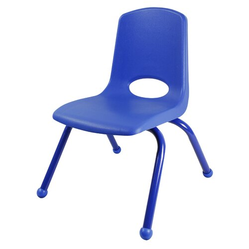 "ECR4kids 12"" Plastic School Stack Classroom Chair with Matching Legs"
