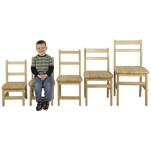 "ECR4kids 12"" Hardwood Classroom Ladderback Chair"