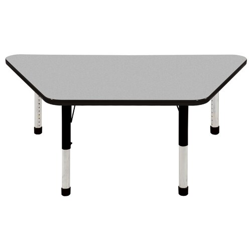 "ECR4kids 30"" x 60"" Trapezoid Activity Table in Various Colors"