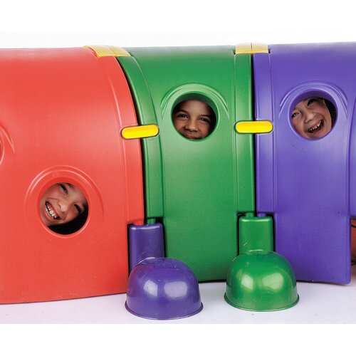 "ECR4kids ""Gus"" Four Section Climb-n-Crawl Caterpillar Tunnel Playground"