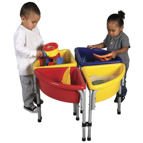 ECR4kids 4 Station Sand & Water Center w/ Lids - Round