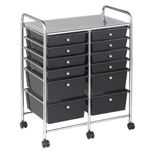 ECR4kids 12 Drawer Mobile Organizer