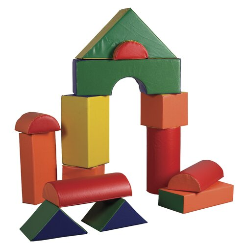ECR4kids 14 Pieces Jumbo Soft Blocks