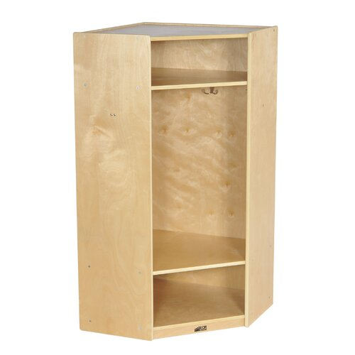 ECR4kids 1-Section Corner Straight Locker