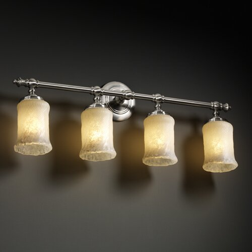 Justice Design Group Veneto Luce Tradition 4 Light Bath Vanity Light