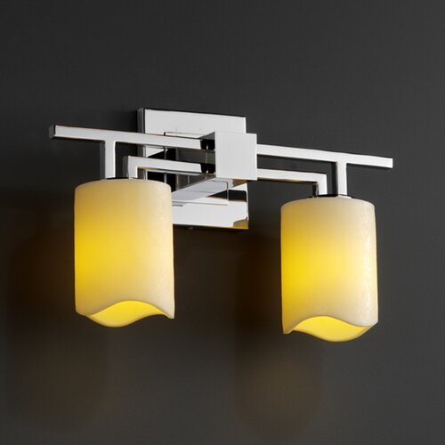 Justice Design Group CandleAria Aero 2 Light Bath Vanity Light
