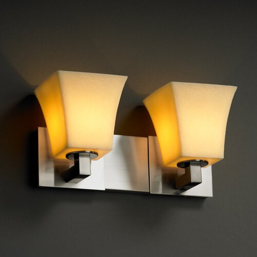 Justice Design Group CandleAria Modular 2 Light Bath Vanity Light