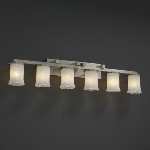 Justice Design Group Dakota Veneto Luce 6 Light Bath Vanity Light