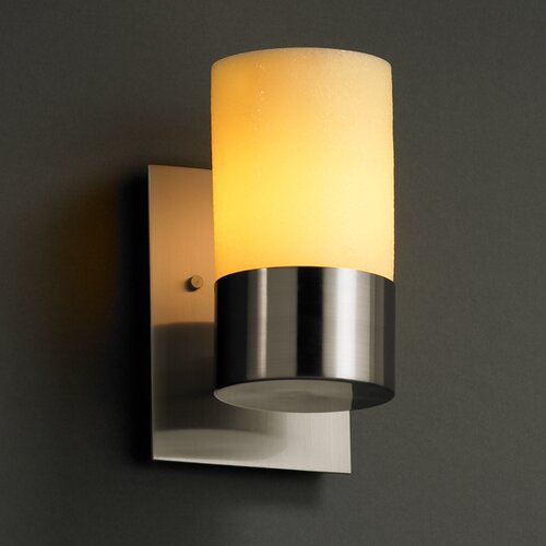 "Justice Design Group CandleAria Dakota 5"" 1 Light Wall Sconce"