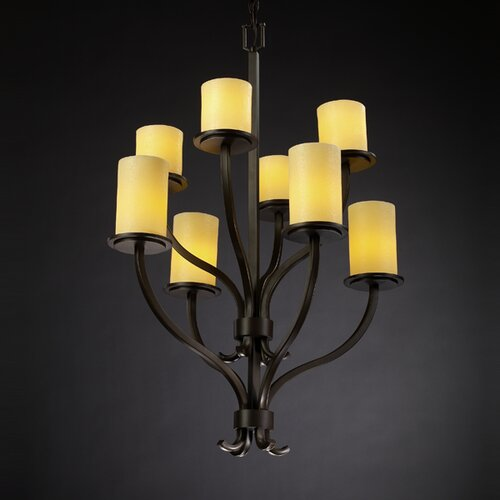 Justice Design Group CandleAria Sonoma 8 Light Chandelier