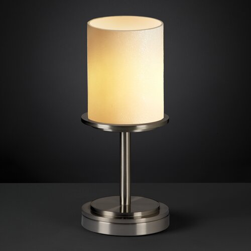 """Justice Design Group CandleAria Dakota Portable 12"""" H Table Lamp with Drum Shade"""