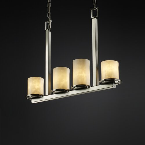 Justice Design Group Clouds Dakota 4 Light Chandelier