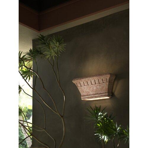 Justice Design Group Tuscan Garden Wide Dentil 1 Light Outdoor Wall Sconce