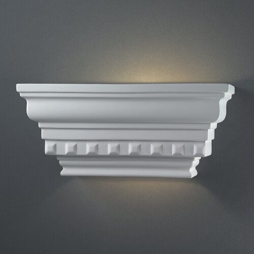 Justice Design Group Ambiance Rectangular Dentil Molding 1 Light Wall Sconce