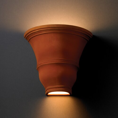 Justice Design Group Ambiance Open Top and Bottom Tall Curved 1 or 2 Light Wall Sconce