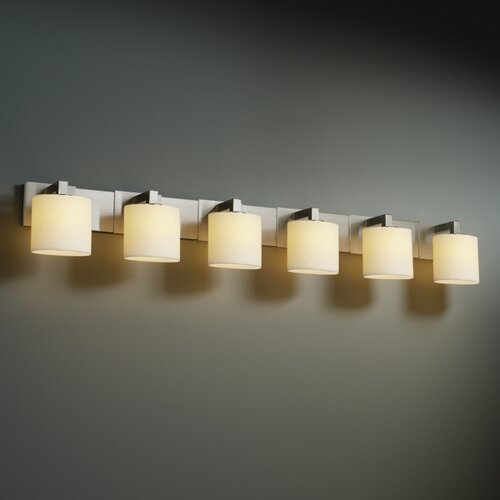 Justice Design Group Modular CandleAria 6 Light Bath Vanity Light