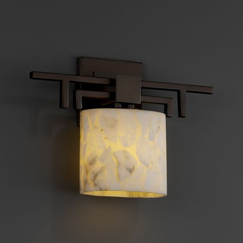 Justice Design Group Alabaster Rocks Aero 1 Light Wall Sconce
