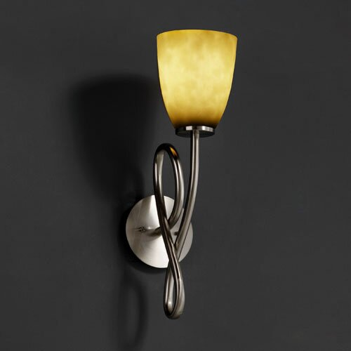 Justice Design Group Clouds Capellini 1 Light Wall Sconce